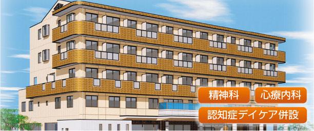 東尾道駅前 本田クリニック全景